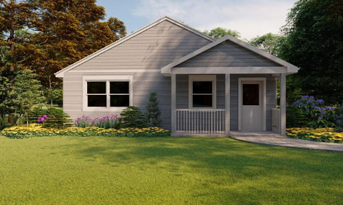 The three-dimensionally printed Riverhead, NY, home is listed online through Zillow with an asking price of $299,999.